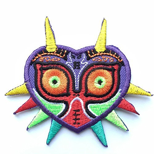 (Majora's Mask Legend of Zelda Embroidered Iron on Patch Appliqué)