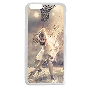 Onelee(TM) - Customized White Hard Plastic iPhone 6 Case, NBA Superstar Houston Rockets James Harden iPhone 6 Case, Only Fit iPhone 6 Case
