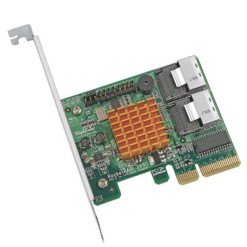 51FjgxatVBL - HighPoint RocketRAID 2680SGL 8-Channel PCI-Express x4 SAS 3Gb/s RAID Controller