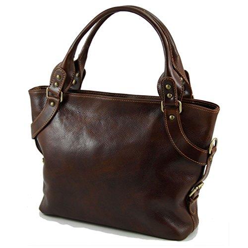 Tuscany Leather - Ilenia - Bolso en piel para mujer Marrón - TL140899/1 marrón - ocre