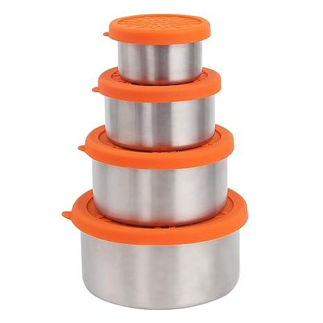 e54a645d3670 Amazon.com: kilofly 4-Piece BPA Free Leak Proof Reusable Round Eco ...