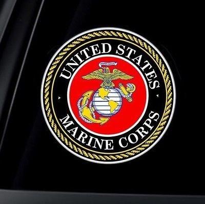 U.S. Marine Corps USMC Logo Car Decal Sticker Vinyl American USA Merica United States Marines Helmet Toolbox Hardhat