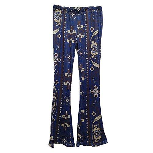 Pour Confortable Couleur Elastische Motif Imprimés Tissu Élégant Haute Style 1 En De Spécial Plage Taille Moderne Long Femmes Pantalon D'été t7pqBTx