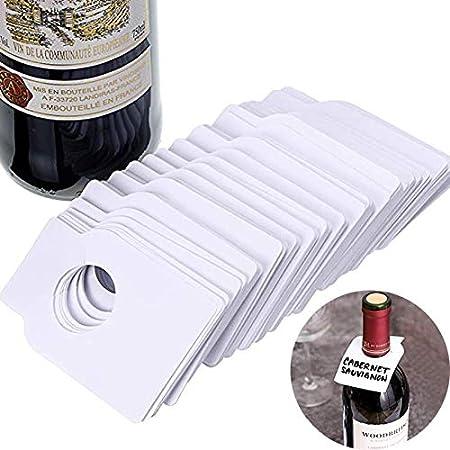 Etiquetas de Cuello de Botella de Vino Etiquetas para Botellas de Vino Etiquetas para Bodegas Etiquetas en Blanco para Botellas de Vino Aplicable a la Etiqueta de Cuello de Botella 200 Piezas
