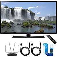 Samsung UN55J6201 55-Inch 1080p 120Hz Full HD LED Smart HDTV Cord Bundle Includes, Durable HDTV and FM Antenna + 2x 6ft High Speed HDMI Cable + Screen Cleaner (Large Bottle) for LED TVs