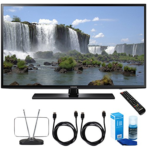 Samsung Hdtv Full (Samsung UN55J6201 55-Inch 1080p 120Hz Full HD LED Smart HDTV Cord Bundle Includes, Durable HDTV and FM Antenna + 2 x 6ft High Speed HDMI Cable + Screen Cleaner (Large Bottle) for LED TVs)