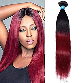Amazon xccoco real human hair extensions peruvian ombre xccoco real human hair extensions peruvian ombre silky straight hair wefts 100gpcs ombre 1b pmusecretfo Image collections