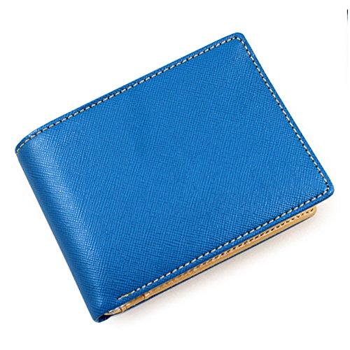 AV Bifold Modern Color PU Leather Wallet Money Clip for Teens (Blue) Modern Kids Wallet