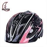 WQQ Moon Kid's 17 Vents EPS+PC Pink+Black Integrally-molded Cycling Helmet(52-55cm)