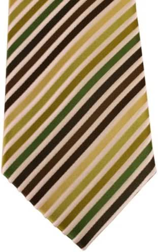 Multi-colour Striped Tie by David Van Hagen
