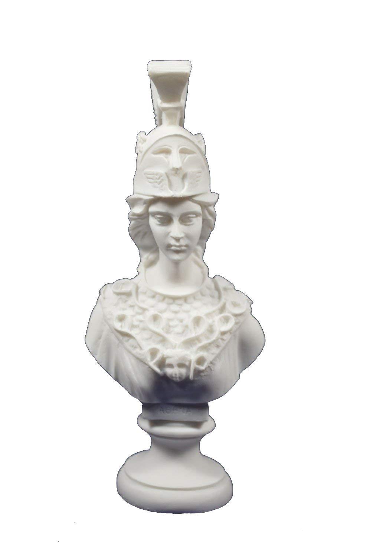 Athena Pallas scultura busto Minerva antica dea greca Estia Creations
