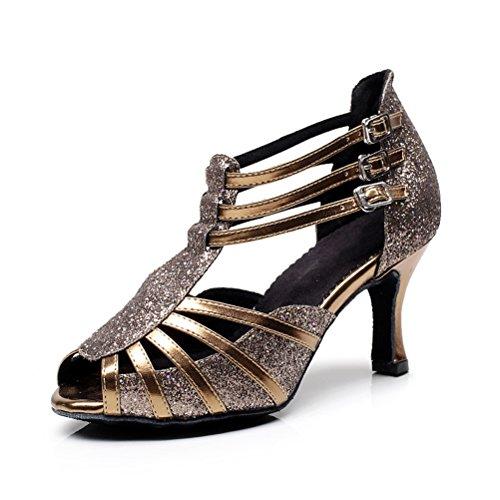 Cxs Ladies Open Toe Party Tacones De Boda Zapatos De Baile Para Salón De Salsa De Tango Y Práctica, 2.75 Heel