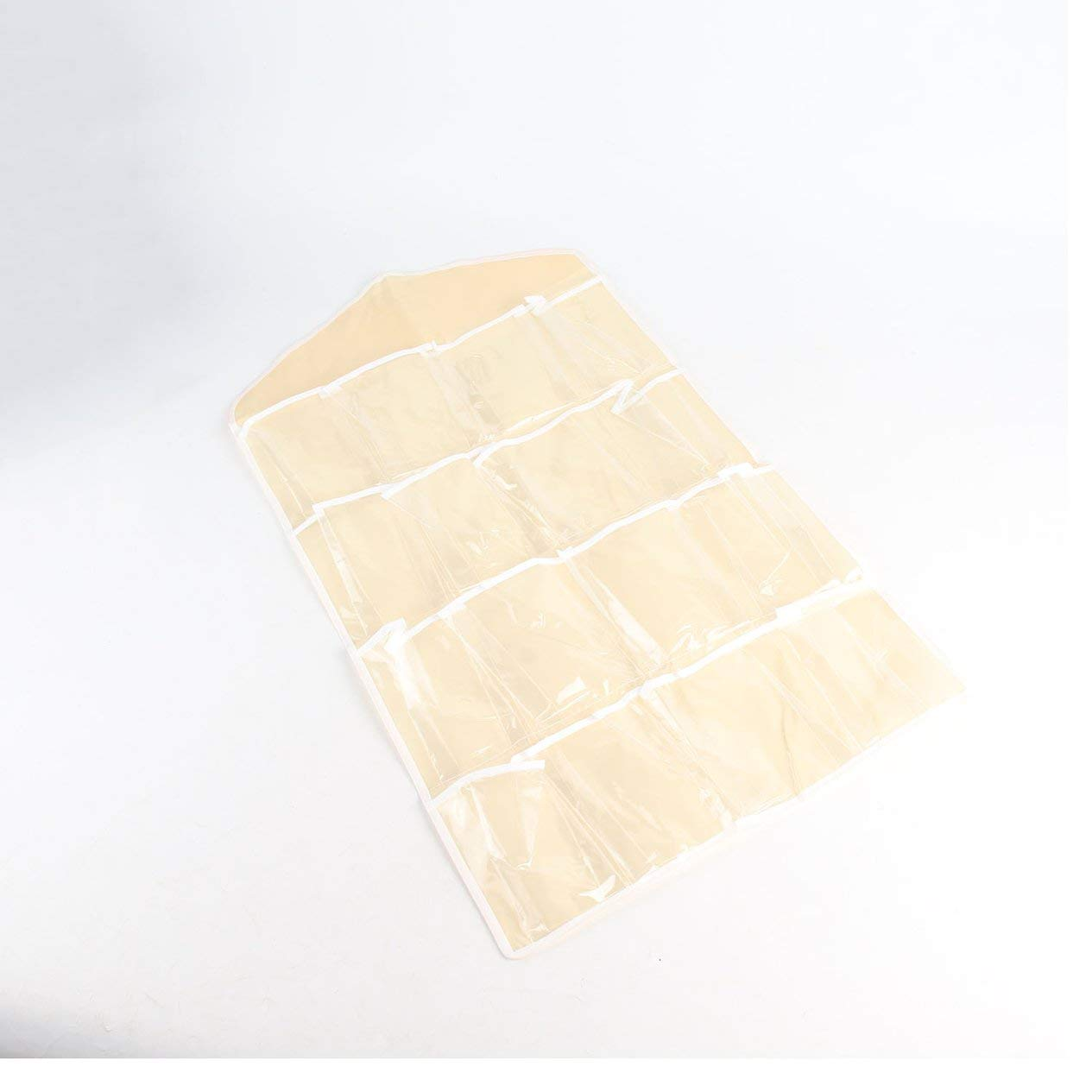 EdBerk74 16 Bolsillos Transparentes sobre la Puerta Colgador de Bolsas Colgador Organizador ordenado para el ba/ño en el hogar Sala de Estar Miscel/áneas del hogar