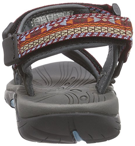 Northland Outback Sandals - Sandalias de Punta Descubierta Hombre multicolor - Mehrfarbig (red/pacific 10)