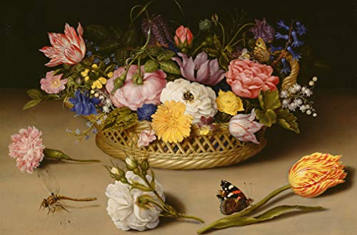 Wooden Jigsaw Puzzle - Flower, Still Life, 1614-172 Unique Wooden Pieces - Made in The USA by Nautilus Puzzles - Challenge Any Puzzle -