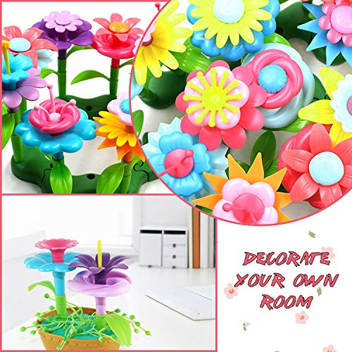 BOTINDO Flower Garden Building Toys, Build a Bouquet Sets 120 PCS Arts and Crafts 3-6 Year Old Toddler Boys Girls Gift for Educational Stem Toys…