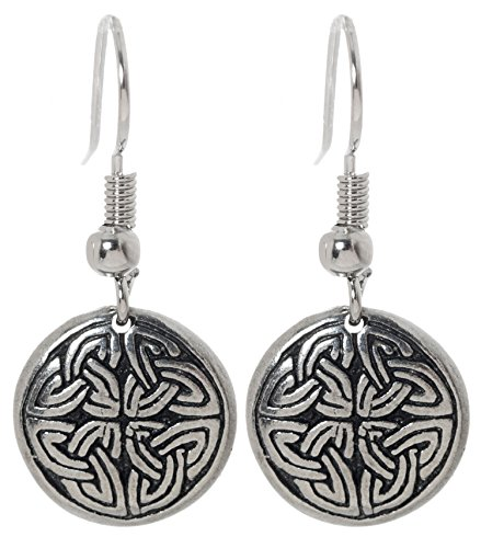 Pewter Irish Earrings Celtic Jewelry (Cross of (Pewter Fish Earrings)
