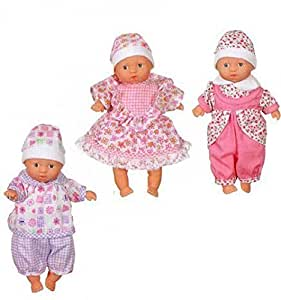 Toysmith Mini Babies Toy (Sold Individually - Outfits and Skin Color Vary)