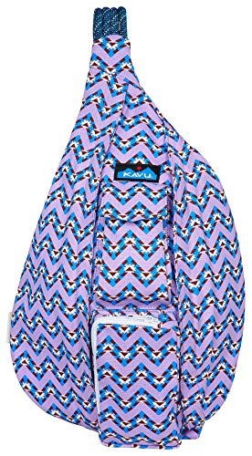 KAVU Rope Bag - Cotton Sling Pack for Hiking, Camping, and Commuting - Jewel Chevron