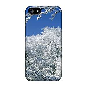 First-class Case Cover For Iphone 5/5s Dual Protection Cover Snow Covered Branches