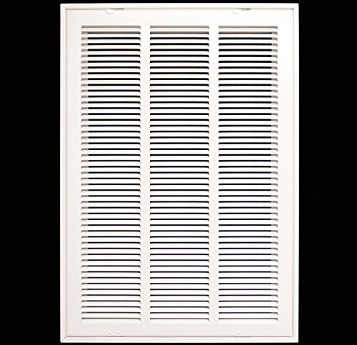 16'' X 24 Steel Return Air Filter Grille for 1'' Filter - Removable Face/Door - HVAC DUCT COVER - Flat Stamped Face - White [Outer Dimensions: 18.5''w X 26.5''h] by HVAC Premium