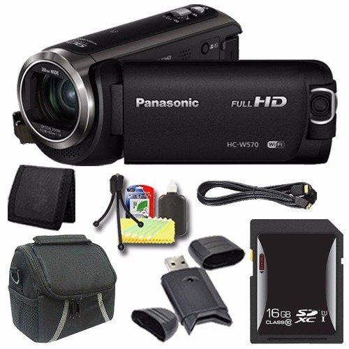 Panasonic HC-W570 HD Camcorder + 16GB SDXC Card + ...