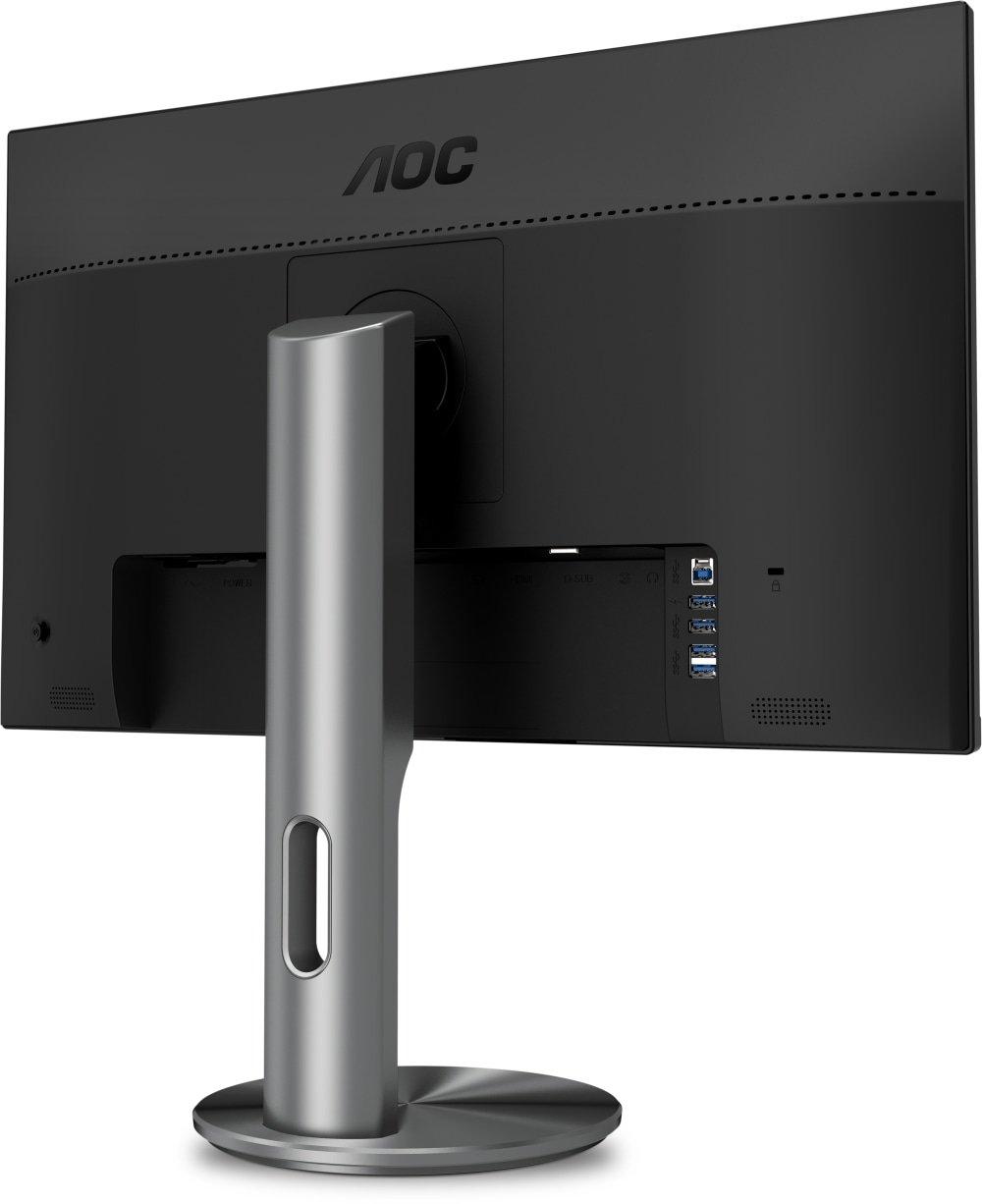 Monitor de 23.8 Color Negro resoluci/ón 1920 x 1080 Pixels, tecnolog/ía WLED, Contraste 1000:1, 4 ms, HDMI, Altura no Regulable AOC Monitores I2490VXQ//BT