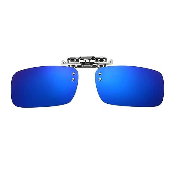 c8b29d06fb Homyl Gafa de Sol con Clip Lentes Polarizadas Protección Solar UV 400  Regalo de Fiesta Cumpleaños para Hombres - Azul, como se describe:  Amazon.es: Ropa y ...