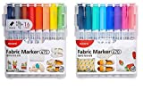Monami Fabric Art Markers T-Shirt Eco Bag Child Safe Premium quality 15-PACK
