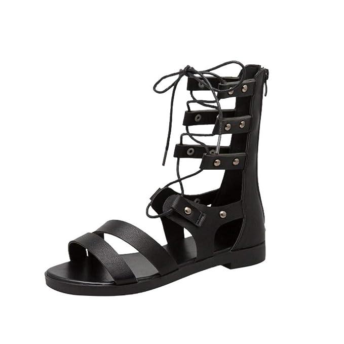 ef6377f558f Women Fashion Roma Style Sandals GoodLock Ladies Metal Zipper Peep Toe  Party Casual
