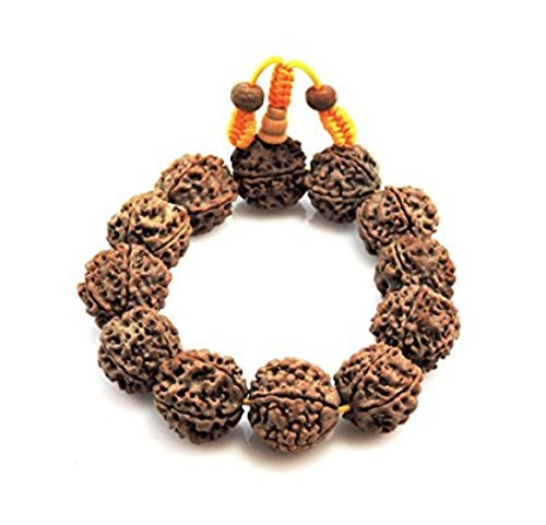 (Hands Of Tibet Mala Rudraksha Seed Wrist Mala/Bracelet Meditation yoga healing beads (Extra Large))
