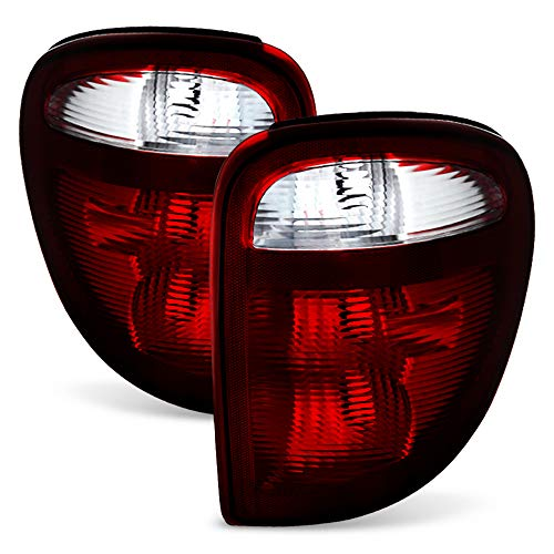 ACANII - For 2001-2003 Town & Country Voyager Caravan Tail Lights Rear Brake Lamps Left+Right