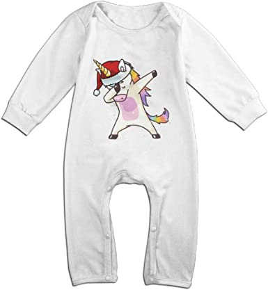 Dabbing Unicorn Toddler Cotton,Long Sleeve Baby Romper