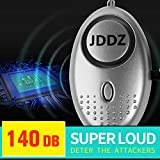 Personal Alarm, JDDZ 140 db Safe Siren Song Emergency Self Defense Protection Device Anti-Rape/Anti-Theft Security with Mini LED Flashlight for Women, Kids and Elderly 2 Pack (Silver)