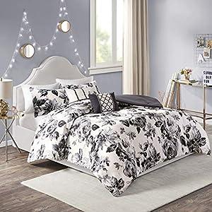 Intelligent Design Dorsey Comforter Reversible Flower Floral Botanical Printed Ultra-Soft Brushed Overfilled Down…