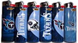 6pc Set BIC Tennessee Titans NFL Officially Licensed Cigarette Lighters