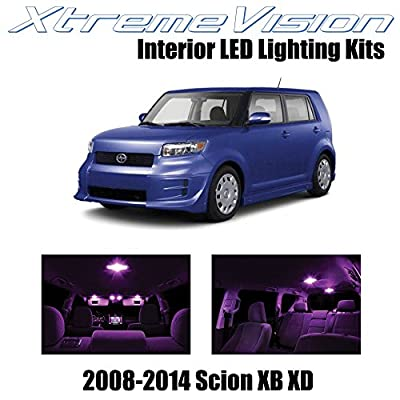 XtremeVision Interior LED for Scion XB XD 2008-2014 (12 Pieces) Pink Interior LED Kit + Installation Tool: Automotive