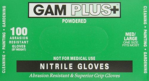 Gam Paint Brushes Nitrile Gloves, 100 Pack