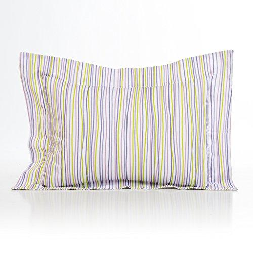 (Sweet Potato Lulu Large Sham Bedding Set, White/Lavender/Green/Purple)