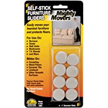 "Restor-It Mighty Movers Self-Stick Furniture Sliders-1"" Round 8/Pkg"