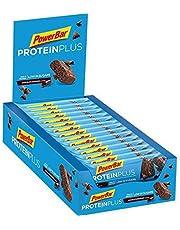 PowerBar Protein Plus Riegel mit nur 107 Kcal - Low Sugar Eiweissriegel, Fitnessriegel mit Ballaststoffen - Chocolate-Brownie (30 x 35g)