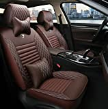 Universal Fit Car Seat Cover WillMaxMat Front&Rear Seat Cushions for Jaguar F-pace - Coffee