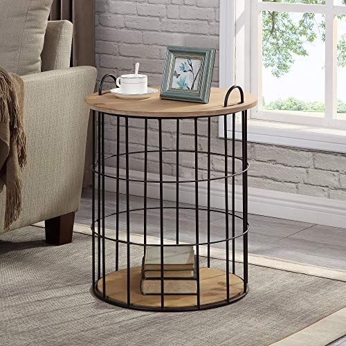 FirsTime & Co. Arborfield Basket Storage Accent Table, 23.25
