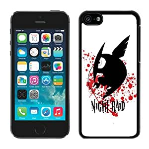 Hot Sale iPhone 5C Case ,Popular And Unique Designed With Akame ga Kill Night Raid Black iPhone 5C High Quality Cover