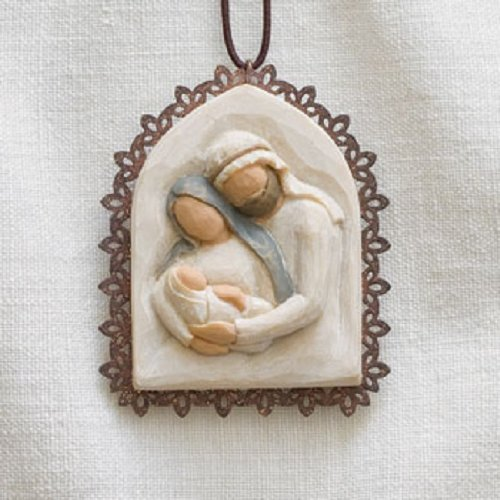 Nativity Tree Ornament - Willow Tree Holy Family Metal-edged Ornament by Susan Lordi 26241