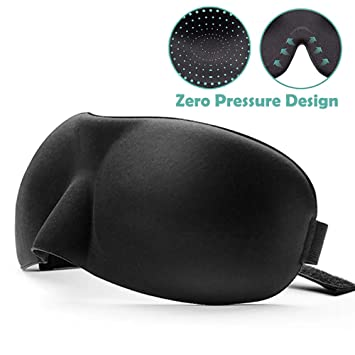 Sleep Eye Mask for Men Women, Upgraded Contoured 3D Eye Mask Eye Cover with Ear Plug Travel Pouch, Comfortable Sleeping Mask No Pressure On Your Eyeballs, Block Out Light 08