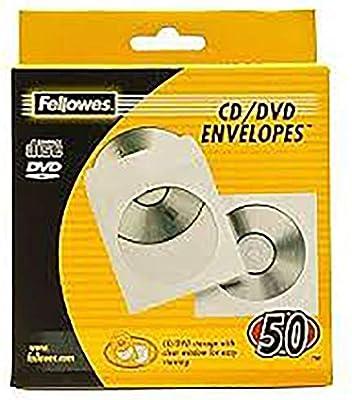 Fellowes 90690 - Pack de 50 Sobres Papel para CDs/DVDs, Color Blanco: Fellowes: Amazon.es: Informática