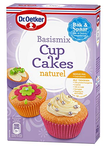 Dr. Oetker cupcakes natural baking mix 8 pakken, mix suitable for 12 cupcakes, without cupcake tins