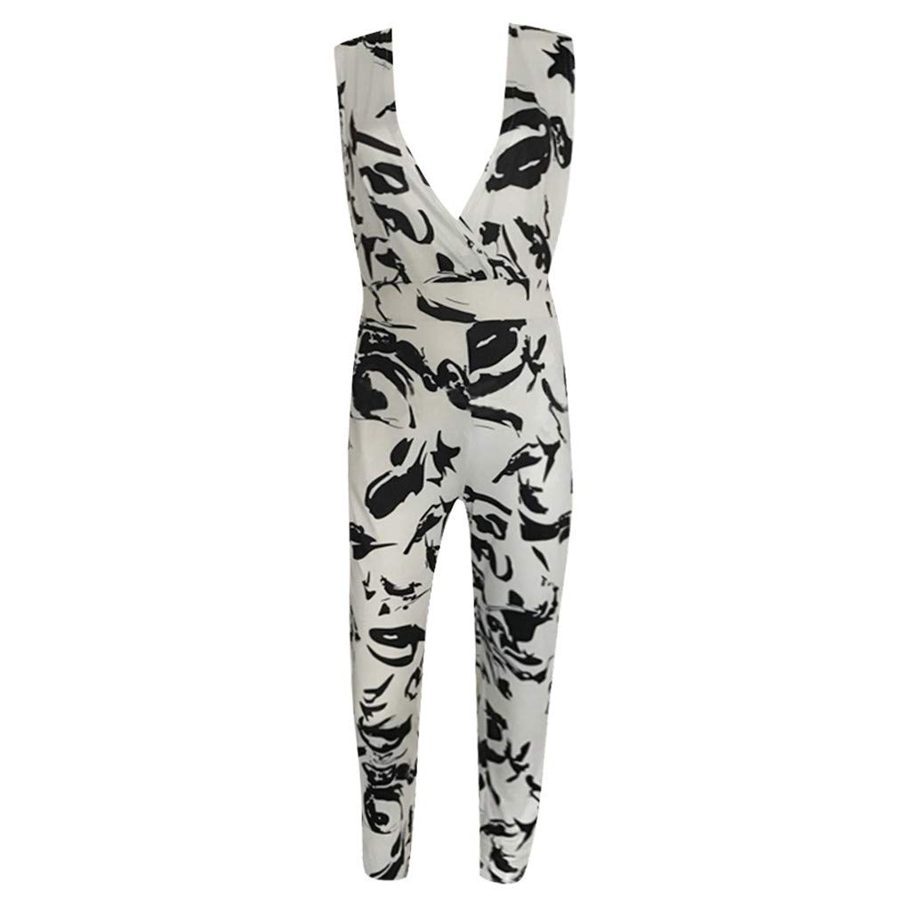 UMei Jumpsuit for Women Fashion Casual Print Playsuit Bodycon Party Formal Summer Rompers