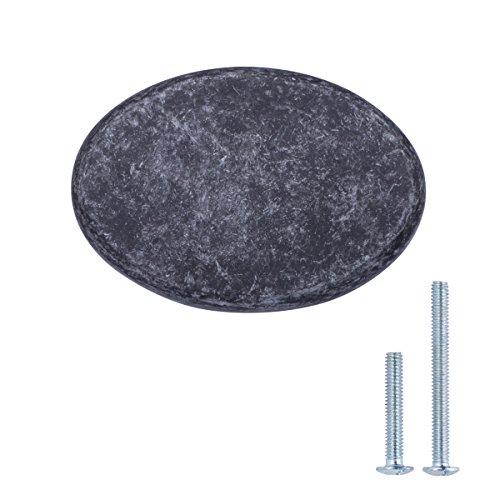 (AmazonBasics Flat Oval Cabinet Knob, 1.44